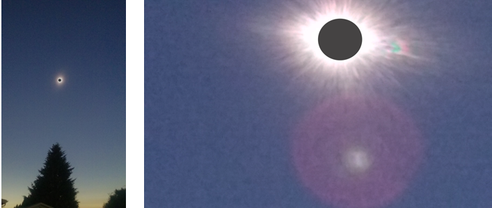 two views of totality-far away and close up
