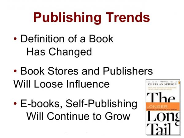 publishing trends identified in book The Long Tail by Anderson