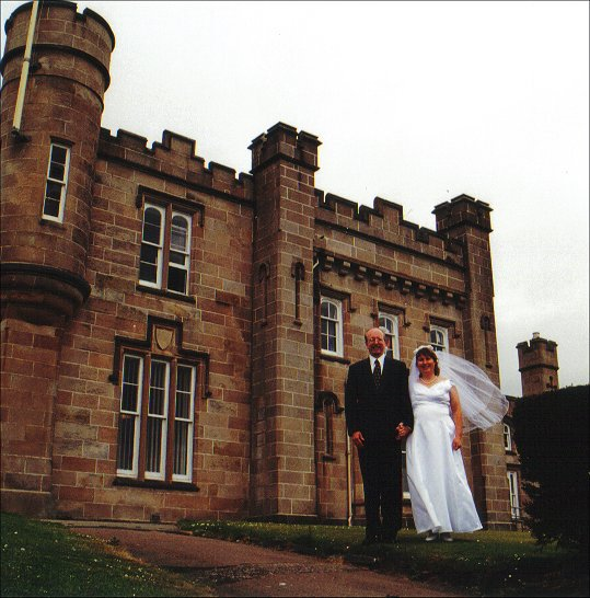 Maggie wedding at castle in Dunoon, Scotland