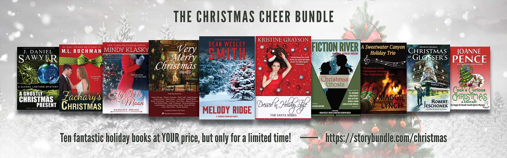 picture of 10 book covers included in the Christmas Cheer story bundle