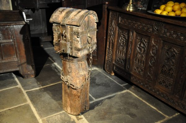 Alms Box circa 1450 at Roche Abbey