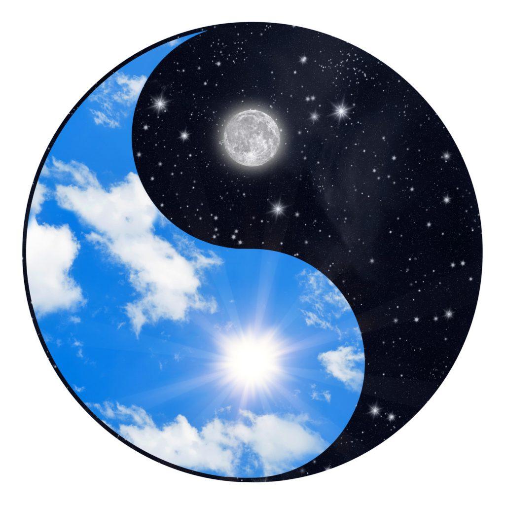 Yin Yang symbol - sun and moon