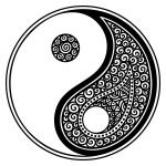 yin and yang symbol used to relate to the prophecy in the Forest People books