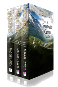 3D cover image of the three books included in the Sweetwater Canyon Boxset Books 1-3