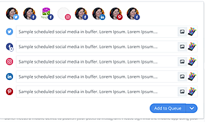 screenshot of scheduling several social media posts in Buffer
